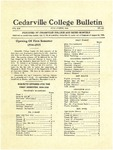 Cedarville College Bulletin, July-August 1934
