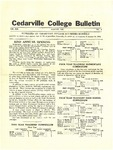Cedarville College Bulletin, August 1935