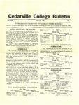 Cedarville College Bulletin, August 1935