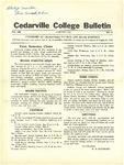 Cedarville College Bulletin, January 1936