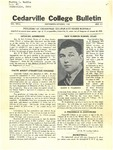 Cedarville College Bulletin, September-October 1938