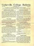 Cedarville College Bulletin, September 1932
