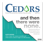 Cedars, March 2016 by Cedarville University