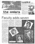 Cedars, September 27, 1984 by Cedarville College