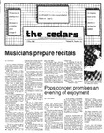 Cedars, May 2, 1985 by Cedarville College