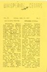 Whispering Cedars, September 27, 1957