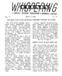 Whispering Cedars, March 7, 1958 by Cedarville College