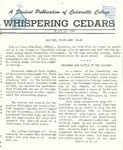 Whispering Cedars, March 12, 1960 by Cedarville College