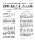 Whispering Cedars, October 18, 1960 by Cedarville College