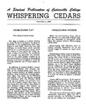 Whispering Cedars, November 1, 1960 by Cedarville College