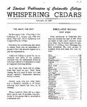 Whispering Cedars, November 15, 1960