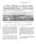 Whispering Cedars, November 30, 1962 by Cedarville College
