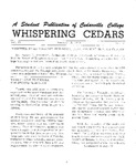 Whispering Cedars, January 19, 1963 by Cedarville College