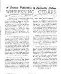 Whispering Cedars, February 15, 1963