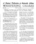 Whispering Cedars, March 1, 1963 by Cedarville College