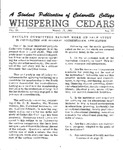 Whispering Cedars, March 15, 1963 by Cedarville College