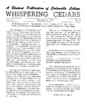 Whispering Cedars, November 2, 1963 by Cedarville College