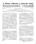 Whispering Cedars, November 22, 1963 by Cedarville College