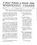 Whispering Cedars, January 22, 1964 by Cedarville College