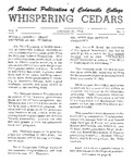 Whispering Cedars, February 20, 1964 by Cedarville College