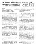 Whispering Cedars, February 20, 1964