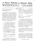 Whispering Cedars, March 6, 1964 by Cedarville College