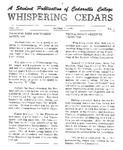 Whispering Cedars, October 9, 1964