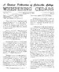Whispering Cedars, November 2, 1964 by Cedarville College