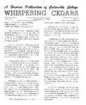 Whispering Cedars, November 2, 1964