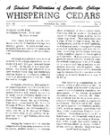 Whispering Cedars, November 24, 1964 by Cedarville College