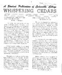 Whispering Cedars, December 9, 1964