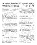 Whispering Cedars, December 16, 1964 by Cedarville College