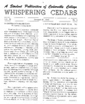 Whispering Cedars, January 21, 1965 by Cedarville College