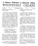 Whispering Cedars, February 12, 1965 by Cedarville College
