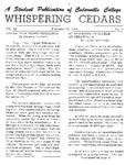 Whispering Cedars, February 26, 1965
