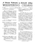 Whispering Cedars, March 10, 1965 by Cedarville College