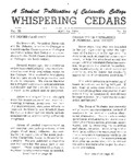 Whispering Cedars, April 12, 1965