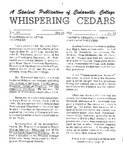 Whispering Cedars, May 12, 1965 by Cedarville College