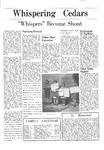 Whispering Cedars, December 1, 1965