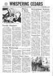 Whispering Cedars, November 9, 1967
