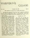 Whispering Cedars, December 18, 1958