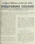 Whispering Cedars, March 4, 1960 by Cedarville College