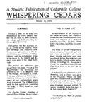 Whispering Cedars, October 18, 1960