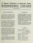 Whispering Cedars, January 24, 1961 by Cedarville College
