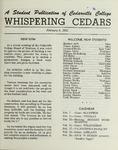 Whispering Cedars, February 9, 1961