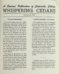 Whispering Cedars, February 22, 1961 by Cedarville College