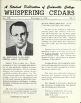 Whispering Cedars, November 2, 1962 by Cedarville College