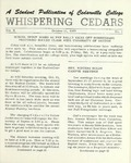 Whispering Cedars, October 11, 1963 by Cedarville College
