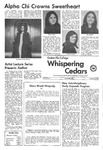 Whispering Cedars, February 8, 1972 by Cedarville College