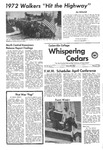 Whispering Cedars, March 9, 1972